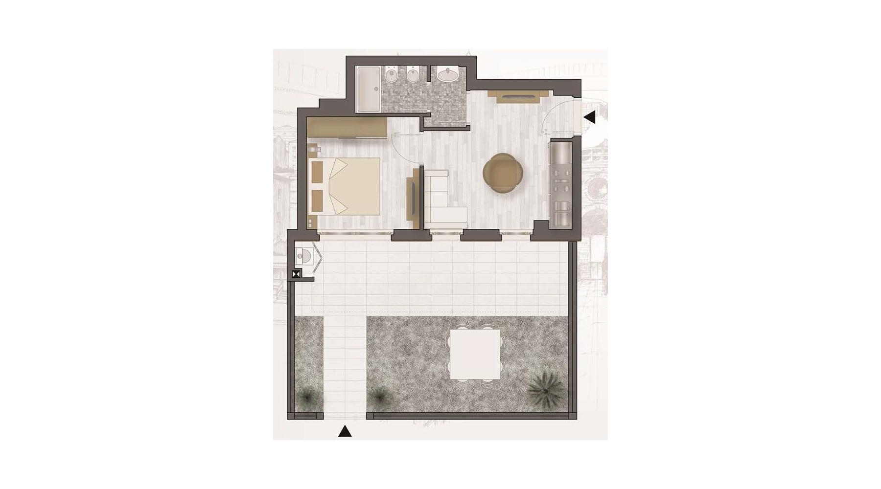 Immagini di giardino con planimetria casa con giardino for Planimetrie della casa di saltbox