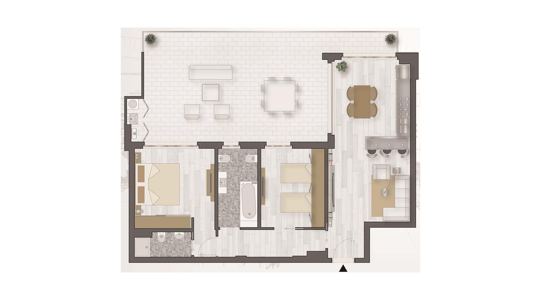 Le planimetrie degli appartamenti Lido della Sirena