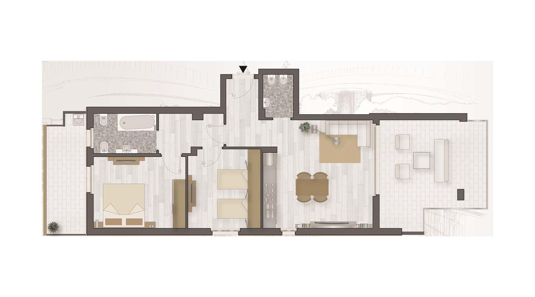 Le planimetrie degli appartamenti lido della sirena for Planimetria dell appartamento in vendita